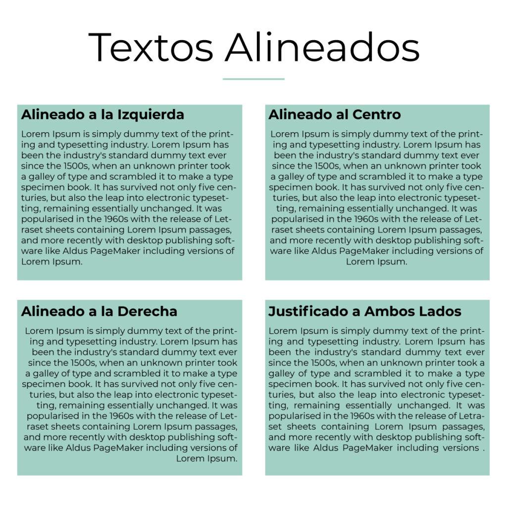 Textos alineados - Diseño Gráfico