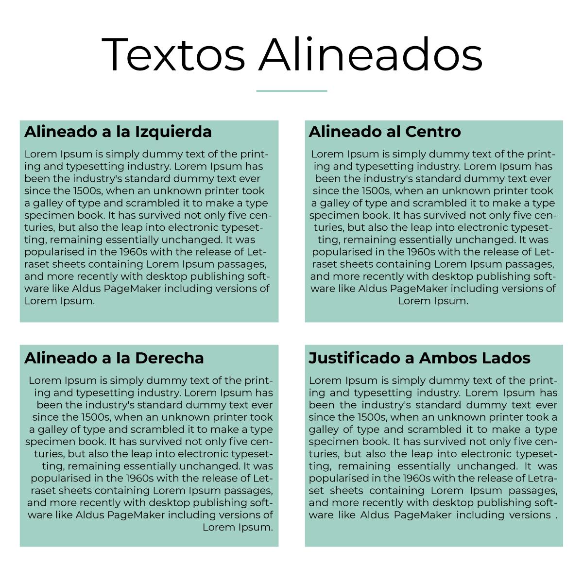 Textos Alineados